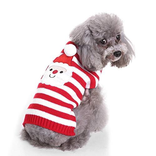 Kostüm Hunde Butler - OVCK PET CARE Hund Kostüm Stricken Weihnachten Sweatshirt Frühling Herbst Kleiner Mittlerer Hund Hund Kleider Haustierkleidung/rot/L