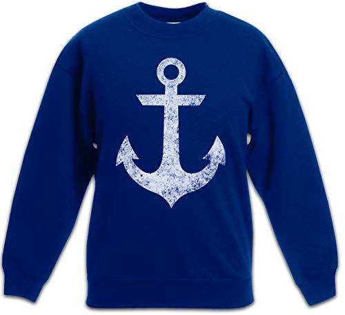 Tattoo Nautical Stars (Urban Backwoods Oldschool Anchor Vintage Logo II Kinder Jungen Mädchen Pullover Anker Nautical Star Tattoo Kinder Jungen Mädchen Pullover)