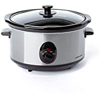 Mellerware - Tempo Olla de cocción Lenta, minimo Consumo 240W, cocción a Baja Temperatura, 4 Funciones, 3.5L, Olla de cerámica extraíble, Incluye recetario