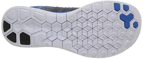 Nike Free 4.0 Flyknit, Chaussures de running homme Multicolore (Dark Grey/Blk Vlt/Elec Green)