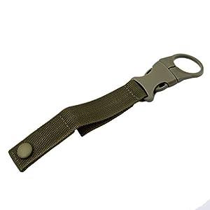 41GHQSeCQSL. SS300  - Yinew Outdoor Bottle Holder Belt Water Bottle Holder Clip with Belt Buckle for Camping Hiking,Khaki