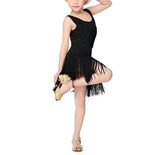 Reefa Latein Tanz Kleid Kind Mädchen Quaste Ballroom Latin Rumba Tango Salsa Tanz Verschleiß Party Tanzkostüm