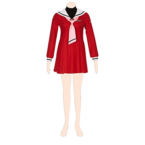 (Cardcaptor Sakura Kostuem cosplay Sakura Kinomoto 4th ver-red sailor suit dress XX-Small)
