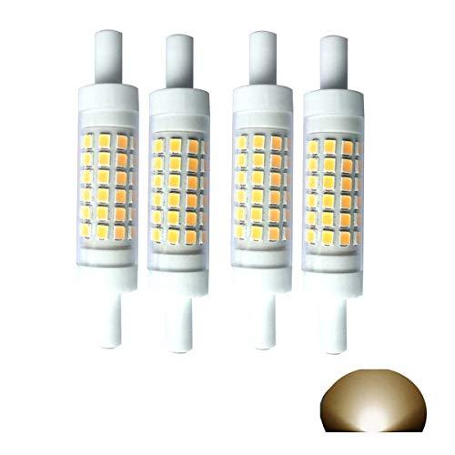 r Doppelseitig 5 Watt Warmweiß 3000 K 50 W 60 W Tungsten Halogen-GlüHbirne Ersatz Zoll J 78 Leuchtmittel 510 LM Flutlicht Spot, Keramik, 3000k,Warm Light, R7s, 5W 220V ()