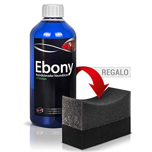 Sisbrill Ebony Acondicionador-Protector de neumáticos   Negro duradero   Brillo satinado   Acabado Seco ! No se va con la lluvia 500ml