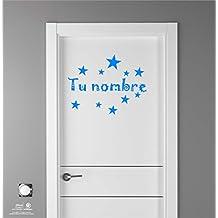 Artstickers Adhesivo Infantil para Decoración de Muebles, Puertas, Paredes.Elige el Nombre de