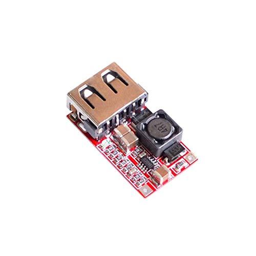 Goldyqin Efficienza 97,5% Modulo Dc-Dc Step-Down 6-24 V 12V 24 V A 5 V 3 A Caricatore per Telefono USB per Auto Design Straordinariamente Resistente - Rosso