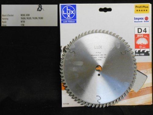 OBI LUX 117535 D4 Profi Plus HM-Kreissägeblatt 200 x 16 mm, 64 Z