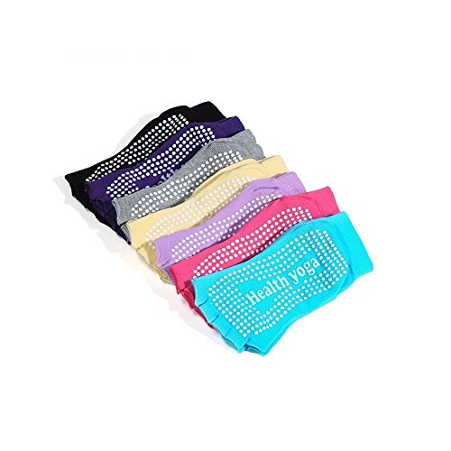 Fancyus 7 Pairs Non Slip Half Toe Yoga Socks – Fit for Shoe Size UK 2.5-7 / EU 35-40