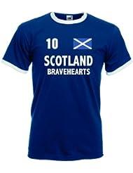 world-of-shirt Herren T-Shirt Schottland Bravehearts Retro Shirt