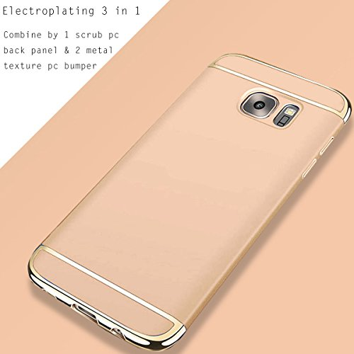 For Custodia Apple iPhone 6S/6 Plus,HAVE1SEE Hybrid 3 in 1 Ultra Thin Anti-Drop Anti-Skidding Scratch Resistant Shockproof Metal Textured Grip Case for Apple iPhone 6S/6 Plus Silver Oro
