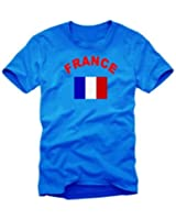 Coole Fun T-Shirts FRANKREICH T-SHIRT, ROYALBLAU