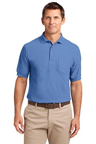 Port Authority Herren Button-down Poloshirt Ultramarinblau