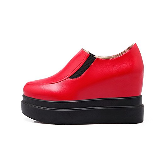 BalaMasa-American Buttom Muffin, piedi Imitated pompe-Scarpe in pelle Red