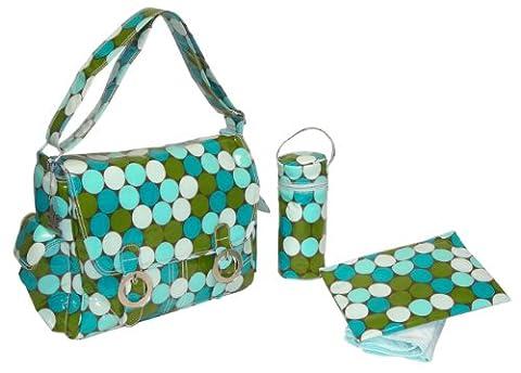 Kalencom Fashion Diaper Bag, Changing Bag, Nappy Bag, Mommy Bag, Coated Double Buckle Bag (Fun Dots