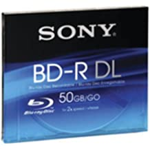 Sony Blu Ray -R DL 50 GB - DVD+RW vírgenes (DVD-R DL, policarbonato, 5 - 55° C, -10 - 55° C, 3 - 90%, 5 - 90%)