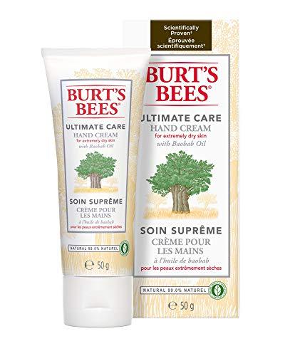 Burt's Bees Ultamativ Natürlich Handcreme mit Baobaböl, Handpflege für trockene Hände, 1er Pack x 50 g