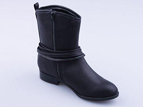 Bottes hiver chaudes, chaussures femme, très chiques et modernes, modèle 1307400112002133, couleur noir ou marron, différents modèles et tailles. Noir modèle A.