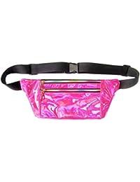 Women Men Shiny Metallic Wasit Bag Fashion Reflective Chest Bag Laser Waterproof PU Pack Bum Bag For Outdoor Beach... - B07H3NY89K