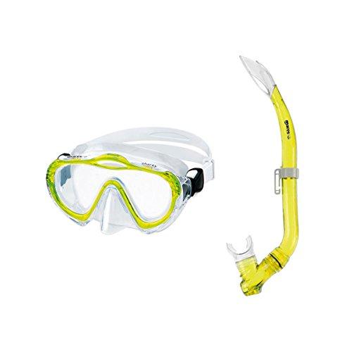Kinderschnorchelset Mares Sharky Schnorchelset für Kinder von 4 - 7 Jahre Tauchbrille und Schnorchel mit Ausblasventil
