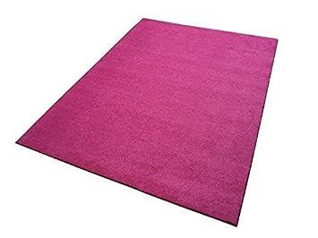 Teppich pink  Moderner Shaggy Teppich TAMPA rosa pink Uni einfarbig kuschelig ...