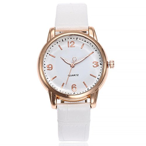 Uhren DELLIN V245 Damen Beiläufige Bælte Quarz Edelstahl Band Marmorband Uhr analoge Armbanduhr (Weiß)