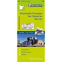 Michelin Atlantische Pyrenäen, San Sebastian, Biarritz: Straßen- und Tourismuskarte 1:150.000 (MICHELIN Zoomkarten)