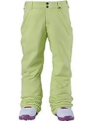 Burton SWTRT 10145102301 - Pantalón de snowboard para niña (talla XL), color amarillo lima