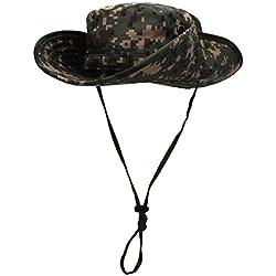 Outfly El cubo de camuflaje tiene un sombrero resistente a la lluvia de Bush militar Unisex de ala ancha Vaquero Gorras