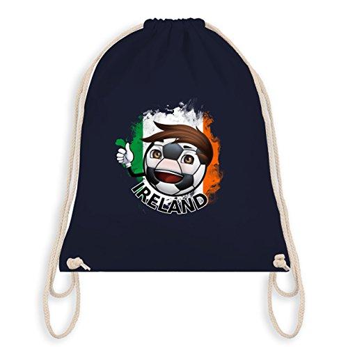 Navy Fußball-maskottchen (Fußball - Fußballjunge Irland - Unisize - Navy Blau - WM110 - Turnbeutel I Gym Bag)