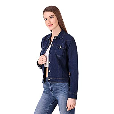Mia Fashion Stylish & Trendy Blue Denim Jackets for Women and Girls|Full Sleeves Jackets with Button Closure|Designed for Comfort and Style|Size- S,M,L & XL.