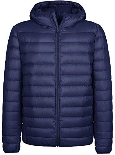 Wantdo Homme Doudoune à Capuche Ultra Légère Manteau d'hiver en Duvet Veste Compressibl