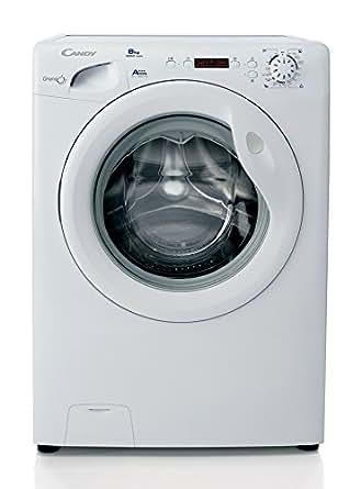 Candy GC 1282D3/1-S Autonome Charge avant 8kg 1200tr/min A+++ Blanc machine à laver - machines à laver (Autonome, Charge avant, Blanc, Gauche, LED, Acier inoxydable)