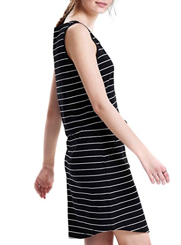 ONLY Damen Kleid Onlmay SL Pocket Dress, Mehrfarbig (Black Stripes:Thin Stripe Cloud Dancer), 36 (Herstellergröße:S)