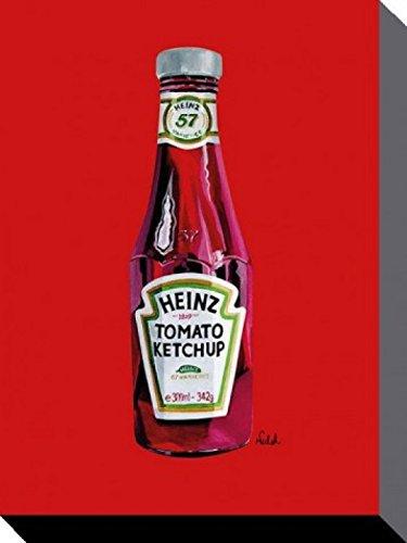 1art1 64342 Marken - Heinz Tomaten Ketchup Poster Leinwandbild Auf Keilrahmen 40 x 30 cm