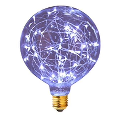 LanLan KTV Decorative Light Bar Atmosphere Glass Bulb G80 2200-2400k 80-100lm 85-265V Retro Led Filament Lamp Blue