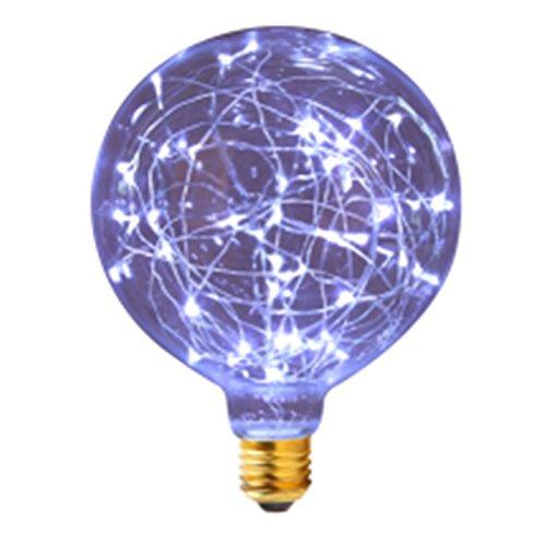 Lanlan BARM Dekoratives Licht Bar Atmosphäre Glas Leuchtmittel G802200–2400K 80–100lm 85–265V Retro LED Filament Lampe, blau, 265.0 voltsV Glas Geblasen Vase