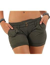 malito Pantalón cortos a Liso Color en elástico cintura del pantalón Verano-Pantalón 6089 Mujer