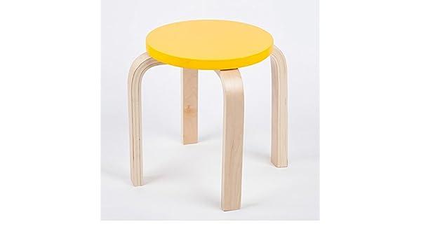 Qffl sgabello semplice in legno massello panca sedia per