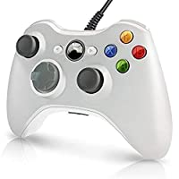 LLQ Colorful USB Wired Gamepad Controller For Xbox 360 Game Supplies (White)