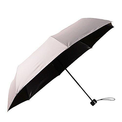 Regenschirm Sonnenschirm mit UV-Schutz kompakter faltbarer Reisen Taschschirm automatisch, winddicht, regendicht mit Schwarz Vinyl (Pink) -YS017