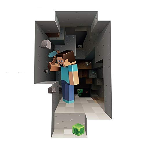 Official Minecraft - Steve Digging - Reusable Vinyl Wall Decal / Sticker / Cling / Decoration for Bedroom, Playroom by J!NX