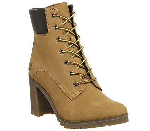 Timberland Allington 6 inch Lace-Up, Stivali Donna, Giallo (Wheat 231), 39 EU