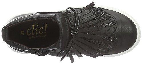 CliC - Stiefelette, Scarpe da ginnastica Bambina Nero (Noir (Schwarz Napa Negro Gl Negro))