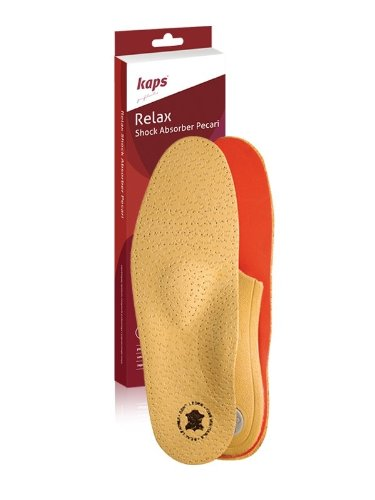 Schuheinlagen, Einlegesohlen Leder, Orthopädische Einlagen, Relax Shock Absorber Pecari - 39