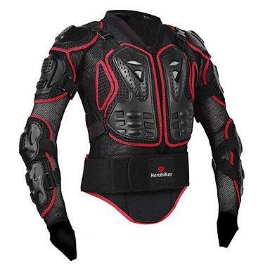TOPY Motorrad Ganzkörper Rüstung Jacke Wirbelsäule Brustschutz Ausrüstung Motocross Motos Schutz Motorrad Jacke, l