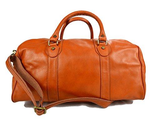 Leder reisetasche manner damen mit griffen schultertasche leder honig tasche made in Italy weekend tasche reise tasche sporttasche