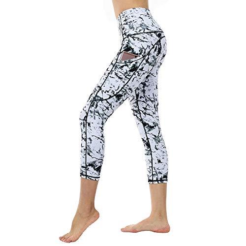 LQRR Yoga Hosen für Frauen Elastic Sport Fitness Leggings Pocket Sportswear Running Leggings weiblich,Marmor,S (Legging 535 Frauen)