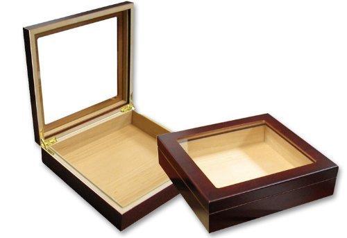 perfectSmoke Einsteiger Zigarren-Humidor Cherry Glasdeckel für 20 Zigarren, inklusiv Befeuchtungssystem