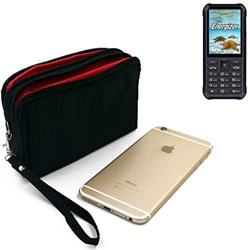 K-S-Trade Für Energizer H20 Gürteltasche schwarz Travel Bag, Travel-Case mit Diebstahlschutz praktische Schutz-Hülle Schutz Tasche Outdoor-case für Energizer H20